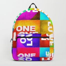 One Love Uno Amore Abstract Art Backpack