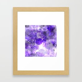 Purple Abstract Framed Art Print