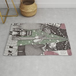 Of Snow and Stars and Christmas Wishes Rug