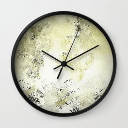Abstract in Cremes and Dark Chocolate Wall Clock