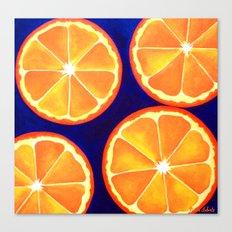 Orange Slice Painting Refreshing Vibrant POP ART Canvas Print