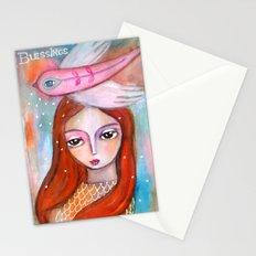 Blessings - girl art Stationery Cards