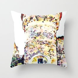 Vatolla: tower with fountain Throw Pillow