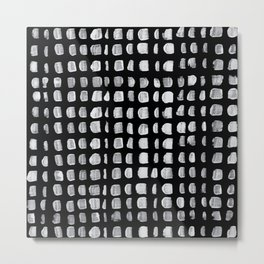 Painted White Dots Metal Print