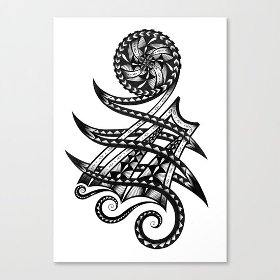 Shoulder Band Tattoo Canvas Print