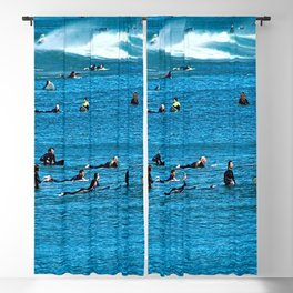 Surfers Waiting for a Wave Seascape Blackout Curtain