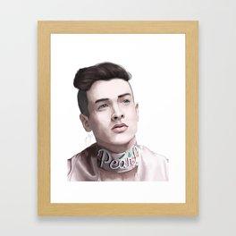 Pear Liaison Framed Art Print