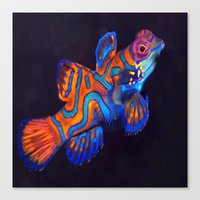 duvet cover Canvas Prints featuring AMAZING CREATURE DUVET COVER by aztosaha