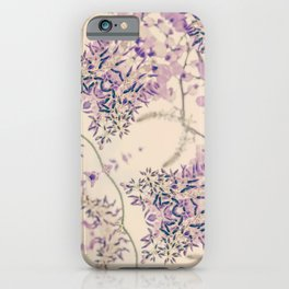 47 Wisteria Circle - Vintage Cream and Lavender Purple Mandala iPhone Case