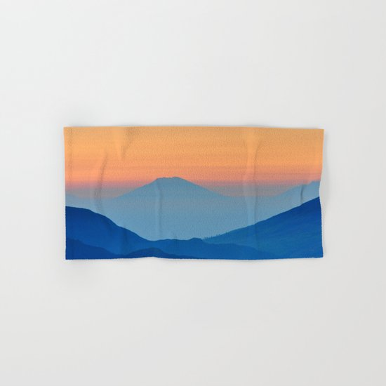 Orange Valley #mountains Hand & Bath Towel