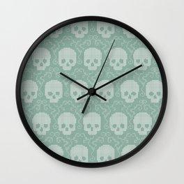 8 Bit Skulls Wall Clock