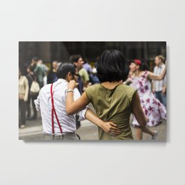 Dancing in the street.  Metal Print