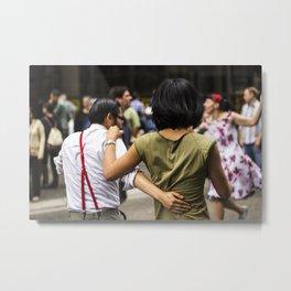 Dancing in the street.  Metal Print