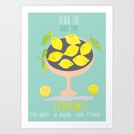 Life & Lemons Art Print
