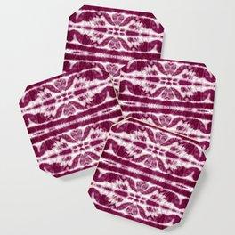 Tie-Dye Burgundy Twos Coaster