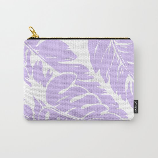 PALM LEAF LILAC Carry-All Pouch