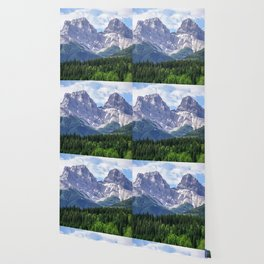 Three Sisters Mountain in Canmore, Alberta Canada Wallpaper
