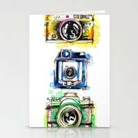 cameras Stationery Cards featuring Vintage Cameras by Abby Diamond