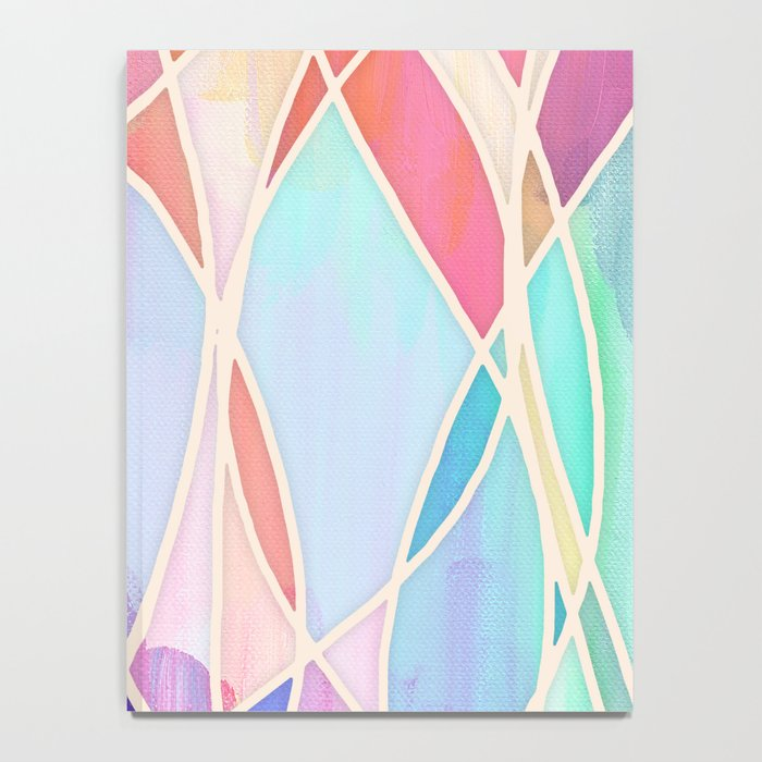 Purple & Peach Love - abstract painting in rainbow pastels Notebook