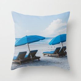 Mornings at the Beach II Throw Pillow