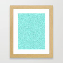 Melange - White and Turquoise Framed Art Print