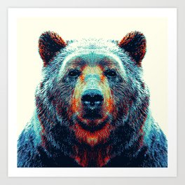 Bear - Colorful Animals Art Print