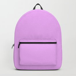 Hibiscus Solid Lilac Bud Accent Backpack