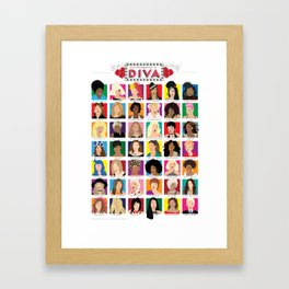 An Iconography in Diva Poster Framed Art Print