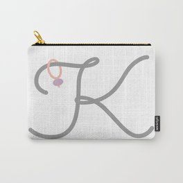K Initial with Stitch Marker Carry-All Pouch