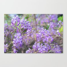 Bees and lilacs Canvas Print