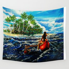 Paddling Home Wall Tapestry