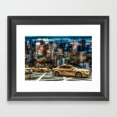 NYC - Yellow Cabs Framed Art Print