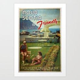 poster Nova Scotia Friendly Canada Art Print