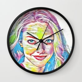 Amanda Seifred (Creative Illustration Art) Wall Clock