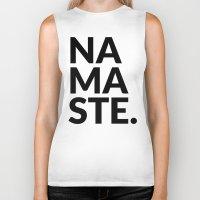 namaste Biker Tanks featuring namaste by Amanda Nicole
