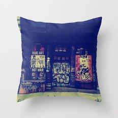 Make Art Not War Throw Pillow