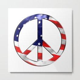 Peace the national flag freedom Metal Print