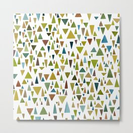 Watercolor triangle fantasy in nature colors Metal Print