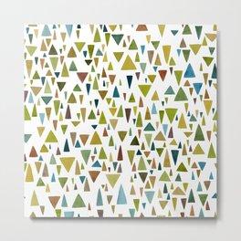 Watercolor triangle fantasy in nature colors Metal Print