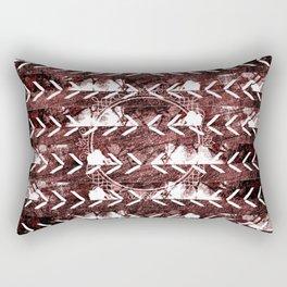Burnt Sienna White Chevron Southwest Rectangular Pillow