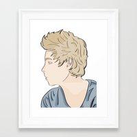 luke hemmings Framed Art Prints featuring Luke - watercolor by Feds
