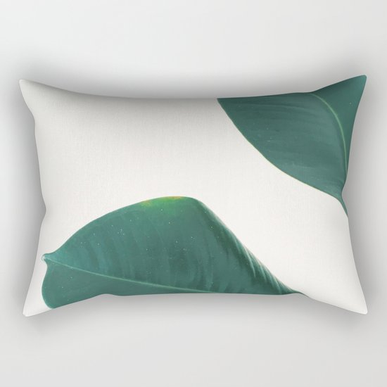 rubber fig leaves i rectangular pillow by cassia beck