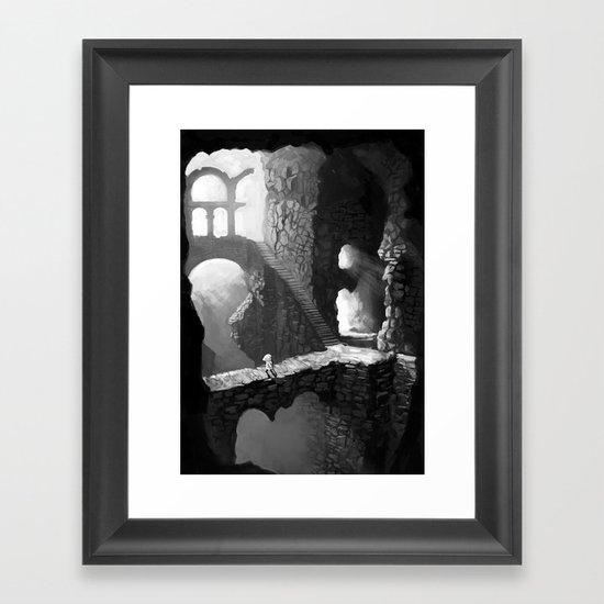 Delve Framed Art Print