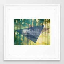God's Grace Framed Art Print