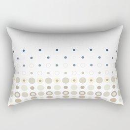 Dot Escalation // Taupe + Blues Rectangular Pillow