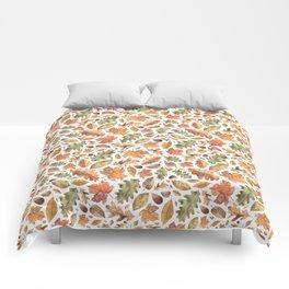 Watercolour Autumn Leaves. Comforters