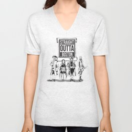 Straight Outta Boston Unisex V-Neck
