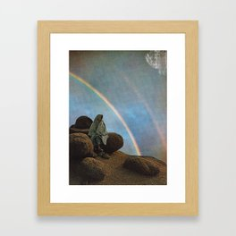 The rainbow gathering Framed Art Print