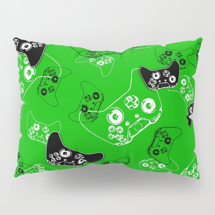 Video Game Green Pillow Sham