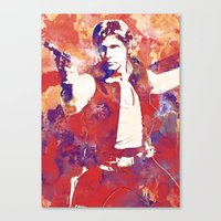 han solo Canvas Prints featuring Han Solo by Nerdiful Art